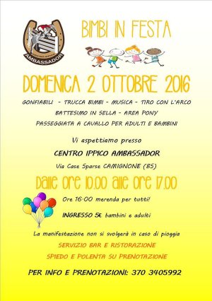 Bimbi in Festa - Centro Ippico Ambassador, Camignone